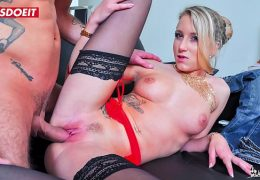 Lovely French Blonde Teen In Her First Anal Fuck