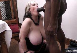 Dark husband cheating on wife with BBW