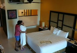 Young girl m., to fuck and creampied against her will by hotel room intruder spy cam POV Indian